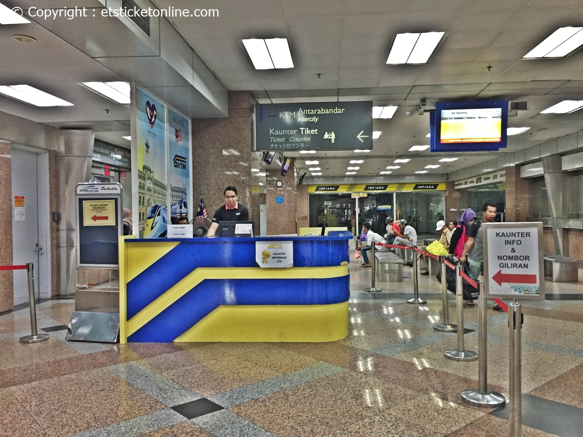 ETS Train Ticket Counter KL Sentral