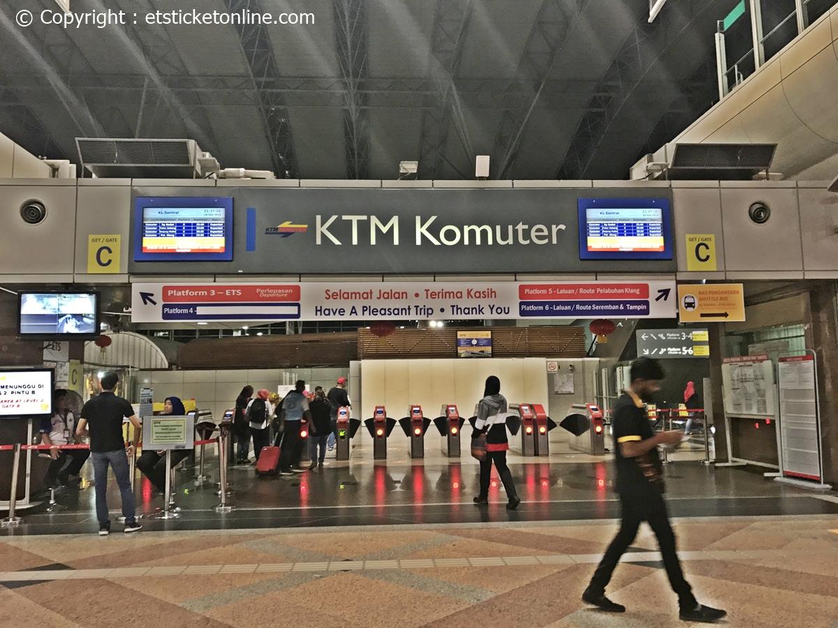KTM Komuter Gate C ETS Departure
